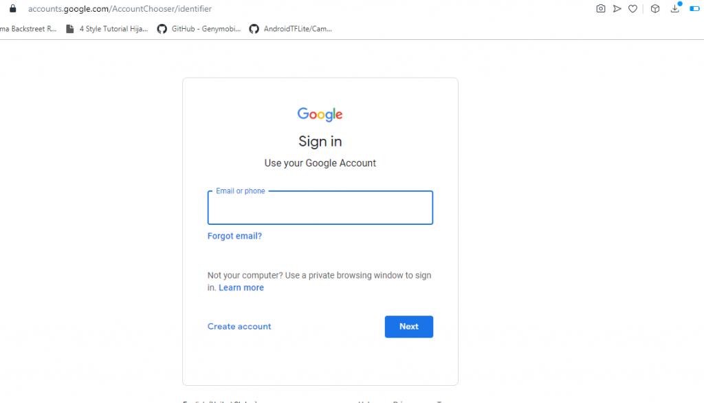 Membuat Google Developer Account