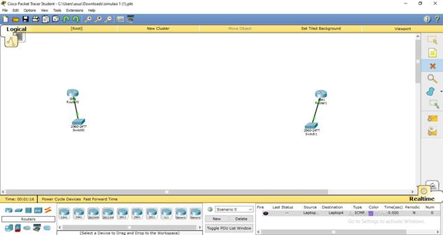Topologi jaringan packet tracer 4