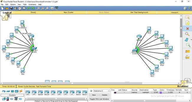Topologi jaringan packet tracer 8